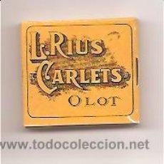 Papel de fumar: PAPEL DE FUMAR L. RIUS CARLETS – OLOT. Lote 32085929