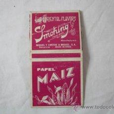 Papel de fumar: PAQUETE PAPEL DE FUMAR SMOKING MAIZ - MIQUEL Y COSTAS BARCELONA. Lote 34210685