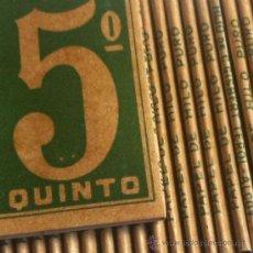 Papel de fumar: LOTE EL 5º QUINTO ENGOMADO - PAPEL DE HILO PURO - HIJOS DE C. GISBERT - ALCOY. Lote 35680052