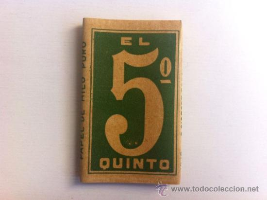 Papel de fumar: LOTE EL 5º QUINTO ENGOMADO - PAPEL DE HILO PURO - HIJOS DE C. GISBERT - ALCOY - Foto 2 - 35680052