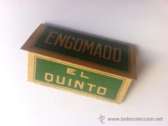 Papel de fumar: LOTE EL 5º QUINTO ENGOMADO - PAPEL DE HILO PURO - HIJOS DE C. GISBERT - ALCOY - Foto 3 - 35680052