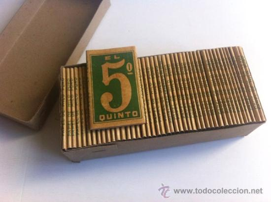 Papel de fumar: LOTE EL 5º QUINTO ENGOMADO - PAPEL DE HILO PURO - HIJOS DE C. GISBERT - ALCOY - Foto 4 - 35680052