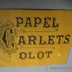 Papel de fumar: CARTON PAPEL DE FUMAR CARLETS OLOT. Lote 37355584