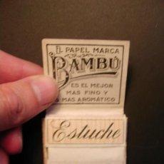 Papel de fumar: PAPEL DE FUMAR BAMBÚ. ALCOY. Lote 37387658