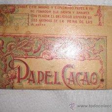 Papel de fumar: PAPEL DE FUMAR CACAO. Lote 38130617