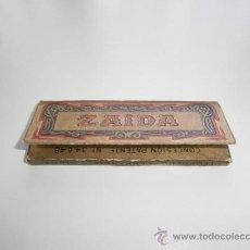 Papel de fumar: PAPEL DE FUMAR ZAIDA - VACÍO. Lote 39158513