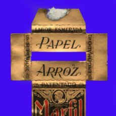 Papel de fumar: ESTUCHE ANTIGUO PAPEL DE FUMAR - MARFIL - PAPEL ARROZ. Lote 40540660