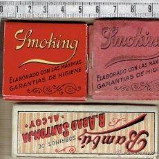 Papel de fumar: LOTE 3 LIBRITOS PAPEL FUMAR-SMOKING-2---1-BAMBÚ.. Lote 42358563