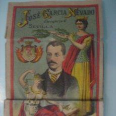 Papel de fumar: LIBRITO DE PAPEL DE FUMAR DE LA 1ª REPÚBLICA, - JOSÉ GARCIA NEVADO DE SEVILLA. Lote 42461537