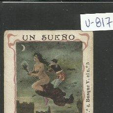 Cartina per sigarette: CROMO PAPEL DE FUMAR HIDALGUIA - LE CHIC PARISIEN- VER REVERSO- C. HIDALGO BARCELONA - (V-817). Lote 43842728