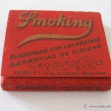 Papel de fumar: LIBRILLO DE PAPEL DE FUMAR SMOKING ARGENTINO 75 HOJAS.. Lote 43849487
