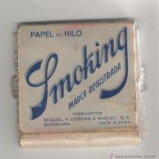 Papel de fumar: ANTIGUA PAQUETE DE PAPEL DE FUMAR SMOKING - PAPEL DE HILO. Lote 44721370