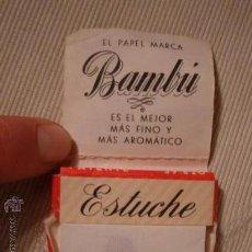 Papel de fumar: ANTIGUO PAPEL DE FUMAR MARCA BAMBU,. Lote 29178020