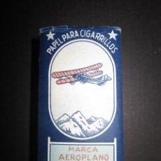 Papel de fumar: LIBRO PAPEL DE FUMAR - MARCA AEROPLANO - 700 HOJAS - CON LOS PAPELES - VER FOTOS- (V-1166). Lote 45761140