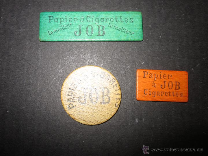 FICHAS PAPEL DE FUMAR - MARCA JOB - SON DE MADERA - VER FOTOS- (V-1167) (Coleccionismo - Objetos para Fumar - Papel de fumar )