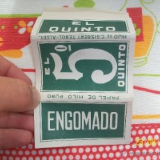 Papel de fumar: PAPEL PARA FUMAR ENGOMADO EL QUNTO HIJO DE C. GISBERT TEROL-ALCOY.. Lote 45781916