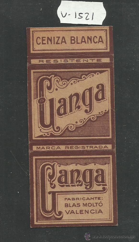 ENVOLTORIO PAPEL DE FUMAR - GANGA - MED. 5 X 10 CM. -(V-1521) (Coleccionismo - Objetos para Fumar - Papel de fumar )