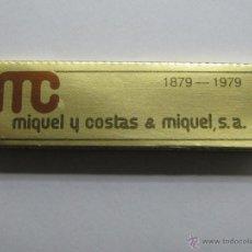 Papel de fumar: PAPEL DE FUMAR MIQUEL Y COSTAS (SMOKING) // ESCASO //. Lote 46595336