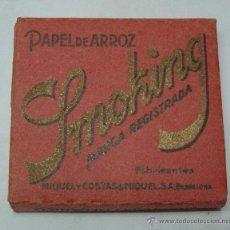 Papel de fumar: PAPEL DE ARROZ SMOKING FABRICADO POR MIQUEL Y COSTAS & MIQUEL S.A. BARCELONA. Lote 46637910
