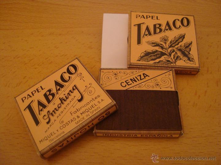 LOTE 3 LIBRILLOS DE PAPEL DE FUMAR TABACO SMOOKING, ANTIGUOS (Coleccionismo - Objetos para Fumar - Papel de fumar )