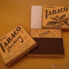 Papel de fumar: LOTE 3 LIBRILLOS DE PAPEL DE FUMAR TABACO SMOOKING, ANTIGUOS. Lote 49424607