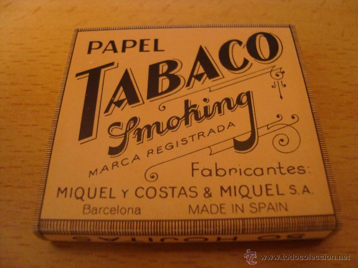 Papel de fumar: LOTE 3 LIBRILLOS DE PAPEL DE FUMAR TABACO SMOOKING, ANTIGUOS - Foto 3 - 49424607
