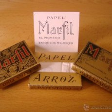 Papel de fumar: LOTE 3 LIBRILLOS DE PAPEL DE FUMAR TABACO MARFIL, ANTIGUOS ALCOY. Lote 47899717