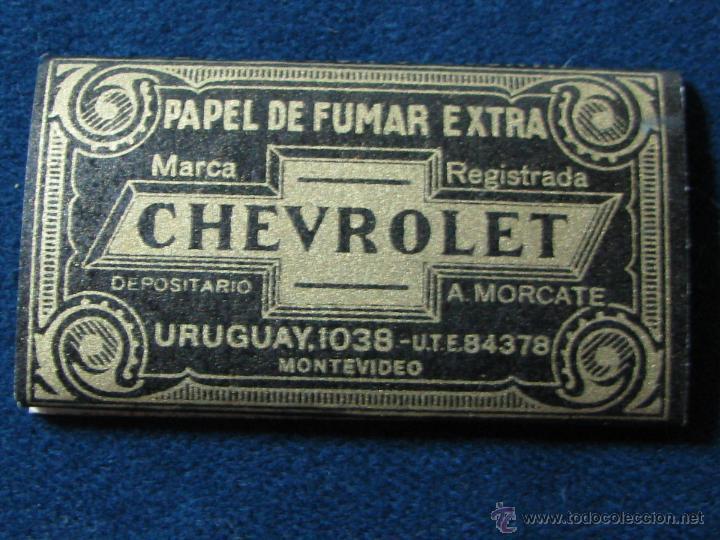 PAPEL DE FUMAR CHEVROLET DE PAYA MIRALLES ALCOY (Coleccionismo - Objetos para Fumar - Papel de fumar )