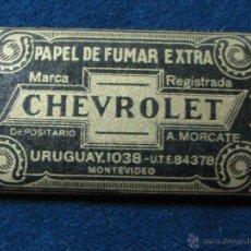 Papel de fumar: PAPEL DE FUMAR CHEVROLET DE PAYA MIRALLES ALCOY. Lote 110842678
