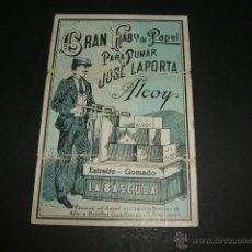 Papel de fumar: LIBRILLO PAPEL DE FUMAR JOSE LAPORTA ALCOY ALICANTE LA BASCULA. Lote 48734943