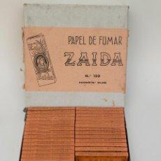 Papel de fumar: CAJA CON 40 LIBRILLOS PAPEL DE FUMAR ZAIDA. Lote 50807126