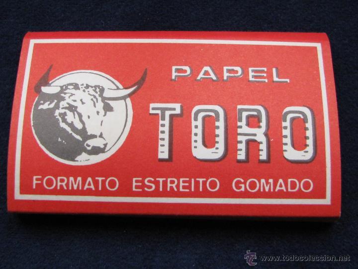 PAPEL DE FUMAR TORO FABRICADO EN ALCOY PARA SU EXPORTACIÓN A PORTUGAL (Coleccionismo - Objetos para Fumar - Papel de fumar )