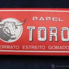 Papel de fumar: PAPEL DE FUMAR TORO FABRICADO EN ALCOY PARA SU EXPORTACIÓN A PORTUGAL. Lote 49426858