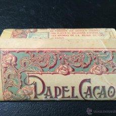 Papel de fumar: PAPEL CACAO, COMPLETO. PAPEL DE FUMAR. Lote 49745895