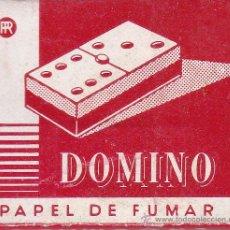 Papier à rouler: ANTIGUO LIBRITO DE PAPEL DE FUMAR DOMINO NUEVO Y SIN USAR (FICHA SEIS-TRES). Lote 53676032