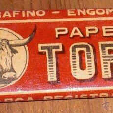 Papel de fumar: PAPEL DE FUMAR TORO. Lote 53790896