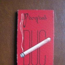 Papel de fumar: LIBRILLO DE PAPEL DE FUMAR PROGRES DUC 100 HOJAS FRANCIA, PRINCIPIOS DE SIGLO XX. Lote 203406922