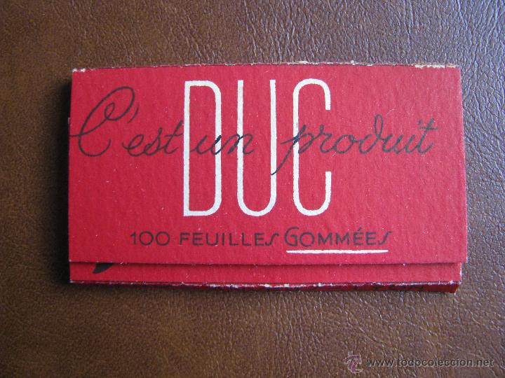 Papel de fumar: Librillo de papel de fumar Progres Duc 100 hojas Francia, principios de siglo XX - Foto 2 - 58064796