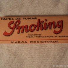 Papel de fumar: PAPEL DE FUMAR SMOKING. Lote 55145958