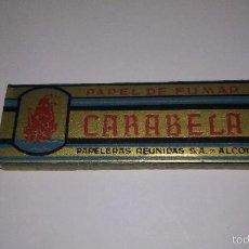 Papel de fumar: L950 ANTIGUO LIBRO LIBRILLO PAPEL DE FUMAR CARABELA, COMPLETO, IMPECABLE Y SIN USAR.. Lote 55154349