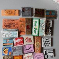 Papel de fumar: COLECCION DE 27 LIBRITOS ANTIGUO DE PAPEL DE FUMAR TABACO - FUMADOR - TABACO. Lote 55401028