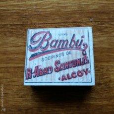 Papel de fumar: LIBRILLO DE PAPEL DE FUMAR. BAMBU. SOBRINOS DE R. ABAD SANTONJA. ALCOY. Lote 56079358