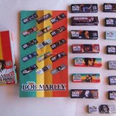 Papel de fumar: COLECCION COMPLETA PAPEL DE FUMAR SERIE BOB MARLEY CON CAJA ORIGINAL Y FOLLETO. Lote 56225553