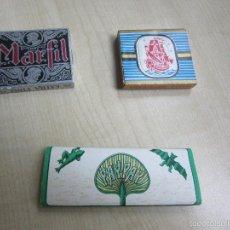 Papel de fumar: TRES LIBRITOS ( CARABELA, MARFIL Y PAY PAY ) DE PAPEL DE FUMAR. Lote 56251465