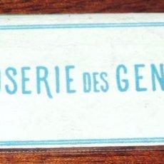 Papel de fumar: CARATULA PAPEL DE FUMAR, SIGLO XIX, GLOSERIE DES GENETS, TAL COMO SE VE EN LA FOTO PUESTA. Lote 57206345