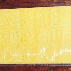 Papel de fumar: CARATULA PAPEL DE FUMAR, SIGLO XIX, PEDRO RIUS, TAL COMO SE VE EN LA FOTO PUESTA. Lote 57226708