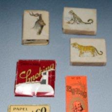 Papel de fumar: LOTE PAPEL DE FUMAR Y CAJAS DE CERILLAS. ANTIGUOS. Lote 57410279