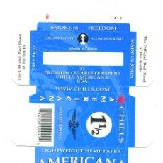 Papel de fumar: ESTUCHE DE PAPEL DE FUMAR CHILLS/AMERICANA 1.1/2. ALCOY. SIN DOBLAR. RARO. Lote 57651842