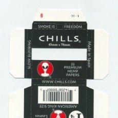 Papel de fumar: ESTUCHE DE PAPEL DE FUMAR CHILLS 1.1/4. ALCOY. SIN DOBLAR. RARO. Lote 57651890