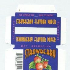 Papel de fumar: ESTUCHE DE PAPEL DE FUMAR STRAWBERRY. ALCOY. SIN DOBLAR. RARO. Lote 57652006